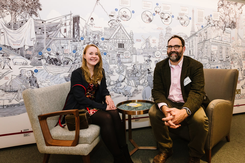 Cognitive's Andrew Park and Suzanne Mills - creators of the RSA Mural at Rawthmells Coffeehouse