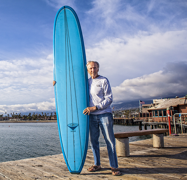 Yater on Stearns Wharf in Santa Barbara, 2014. Photo: Pu'u.