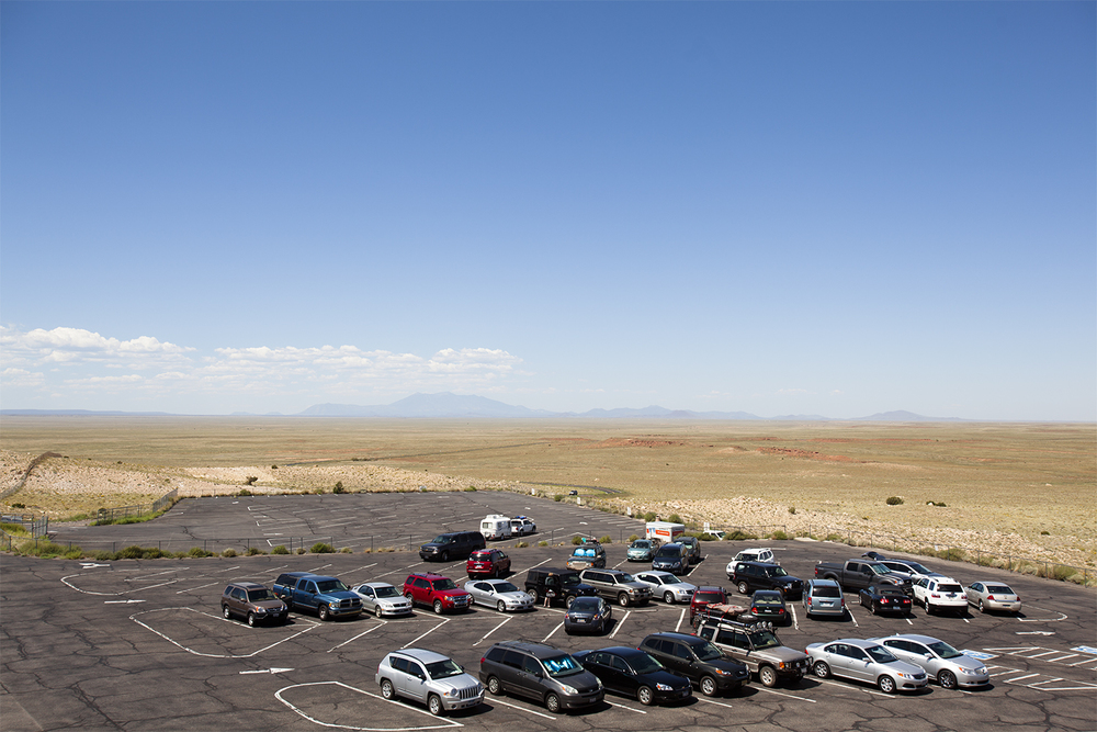 The meteor crater parking lot, Arizona
