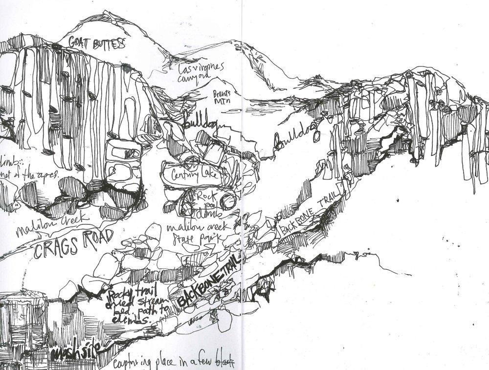 Malibu Creek Map Sketch
