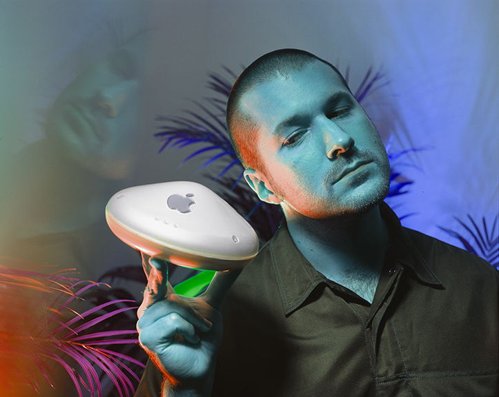 "A Portrait of Sir Jonathan Ive, ""Chrome Blue 1,"" photograph by  © Rafael Fuchs"