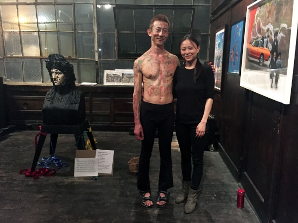 Gio Kusanagi and Jia Doughman at Fuchs Projects (Photo: Nicole Disser)