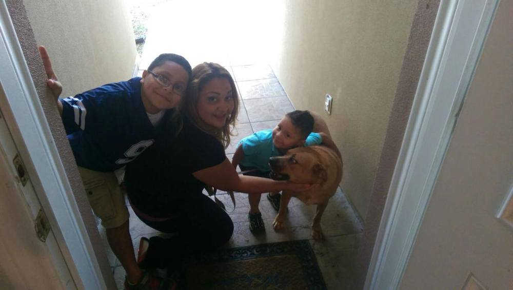 Mr. Big Dog with his new family!!