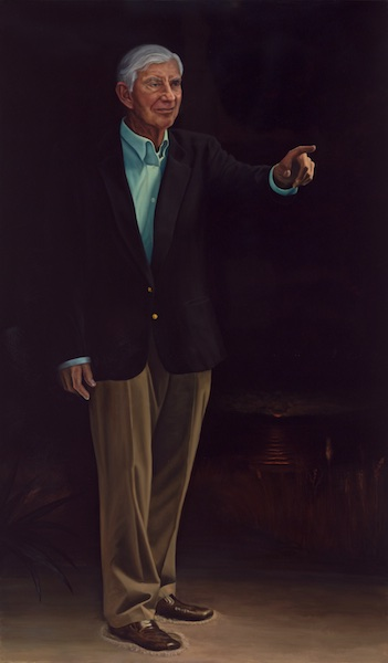 "Nathaniel Reed, Statesman: 72"" x 42"" Oil on Board"