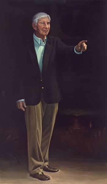 "Nathaniel Reed, Statesman 72"" x 42"" Oil on Board ©Nicholas Petrucci 2014"