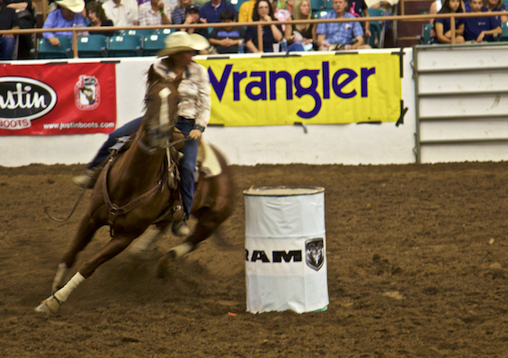 Not Connie barrel riding. ©Connie Bransilver