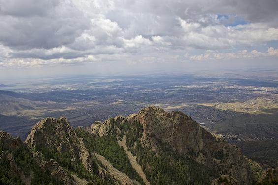 View from Sandia Crest over Albuquerque