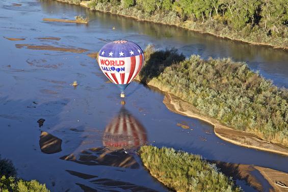 Balloon dip in the Rio Grande
