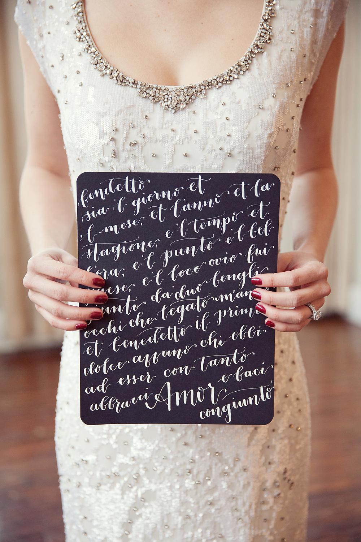 Italian Valentine Poem | Sarah Kate Photo | Stems of Dallas | Natalie Grace Calligraphy Co.
