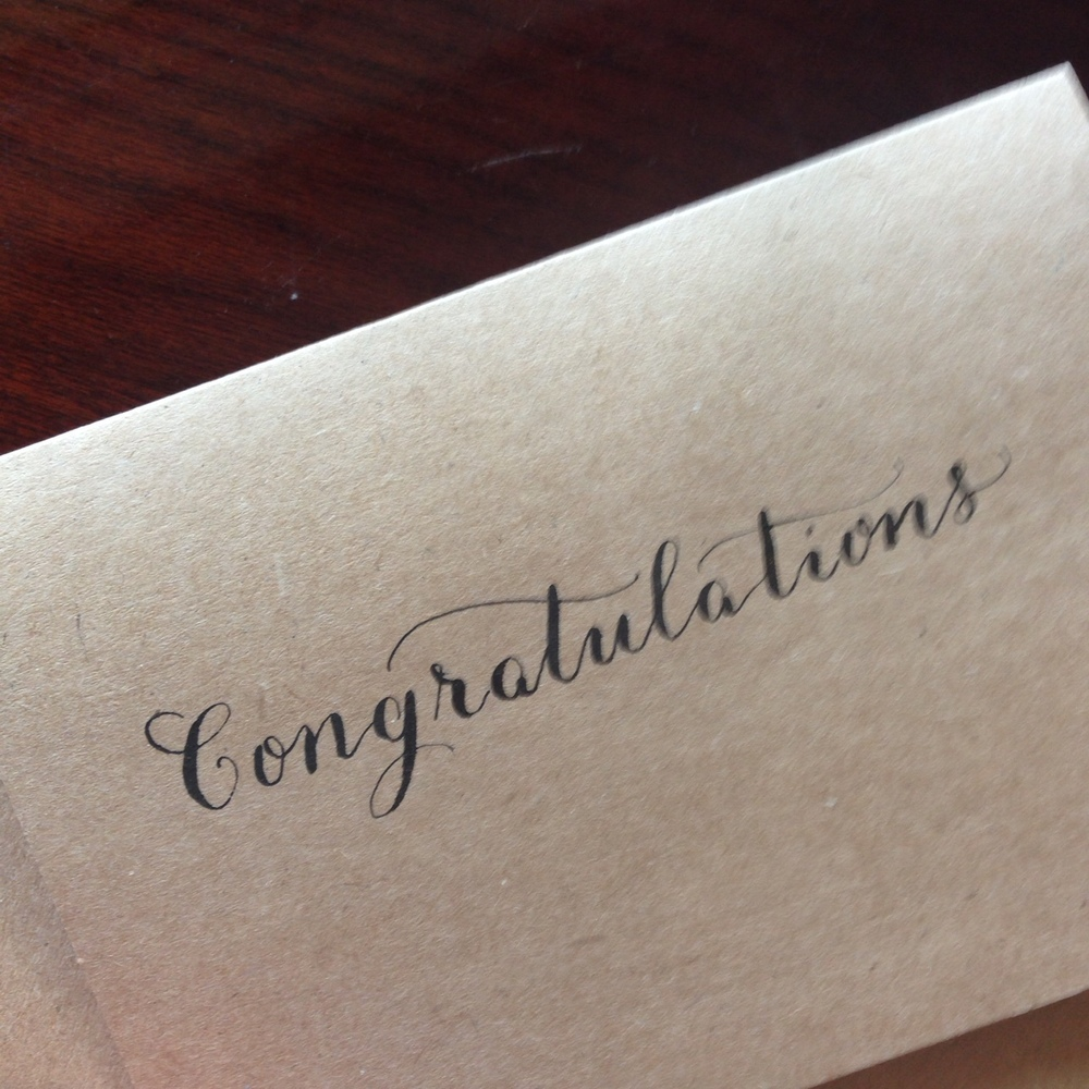 Congratulations | Natalie Grace Calligraphy Co.
