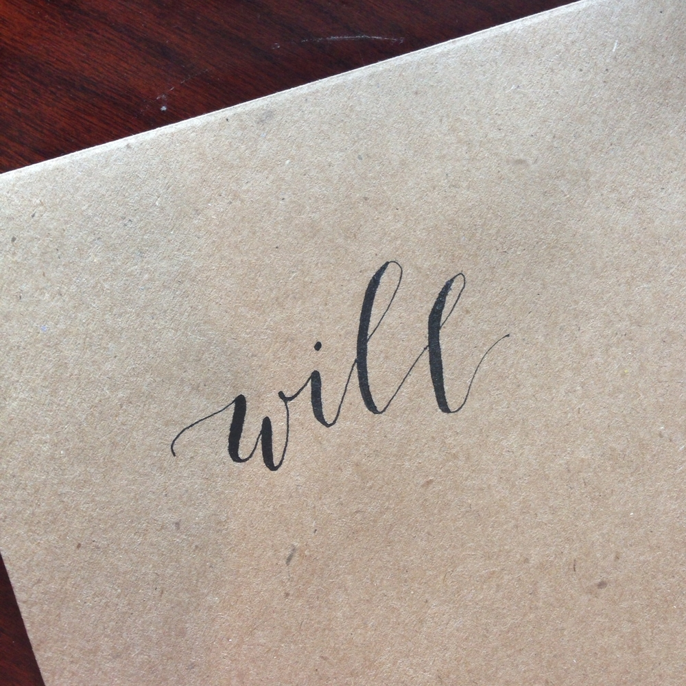 Will | Natalie Grace Calligraphy Co.