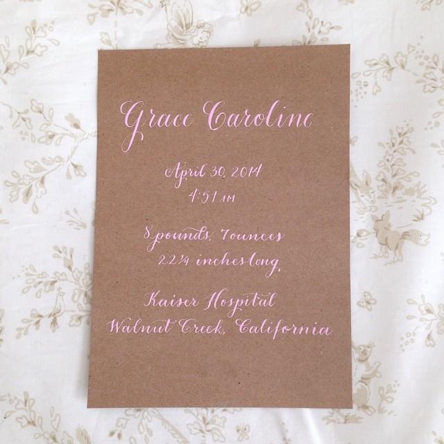 Grace Caroline | Natalie Grace Calligraphy co.
