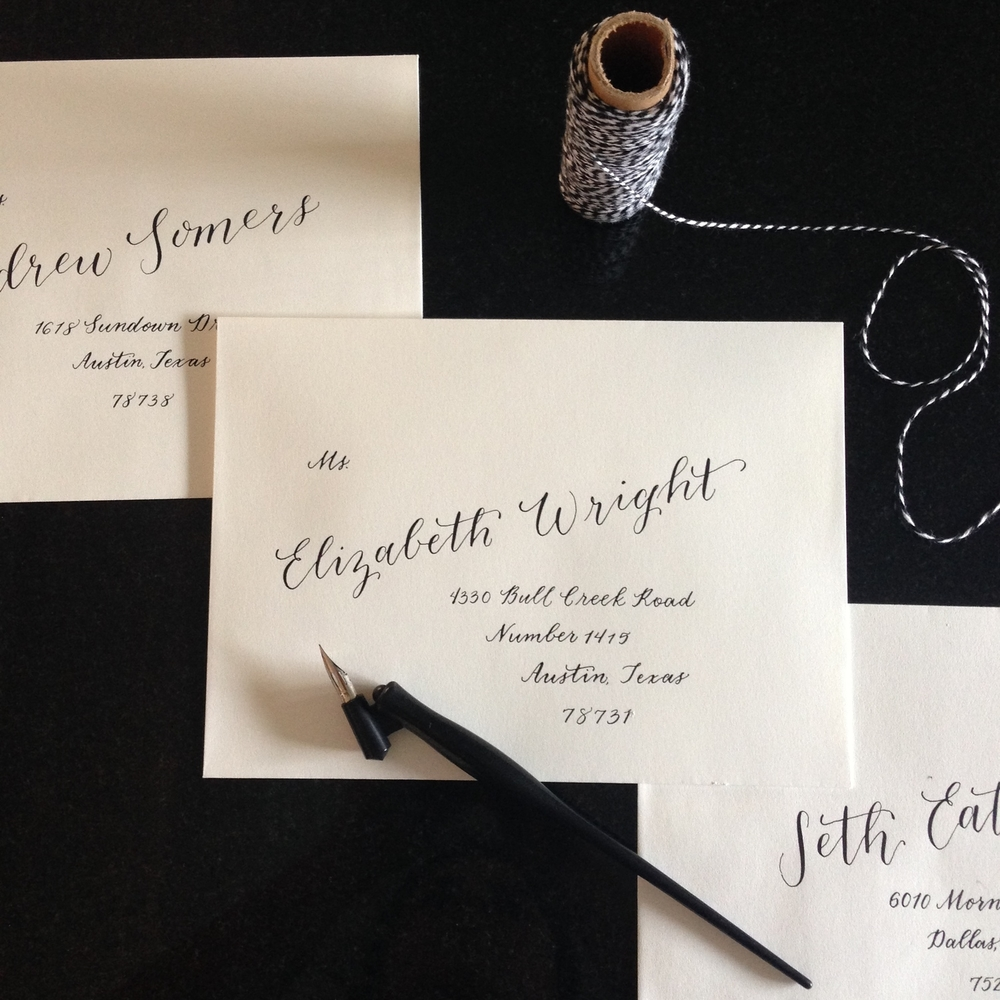 Taylor Wedding Preview | Natalie Grace Calligraphy Co.