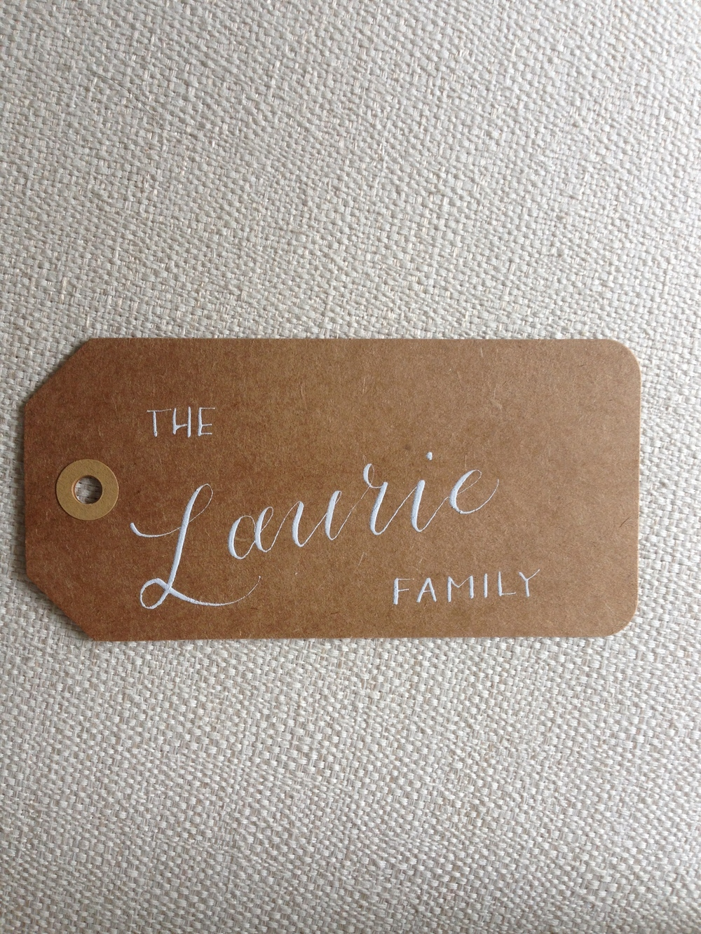 The Laurie Family | Natalie Grace Calligraphy Co.