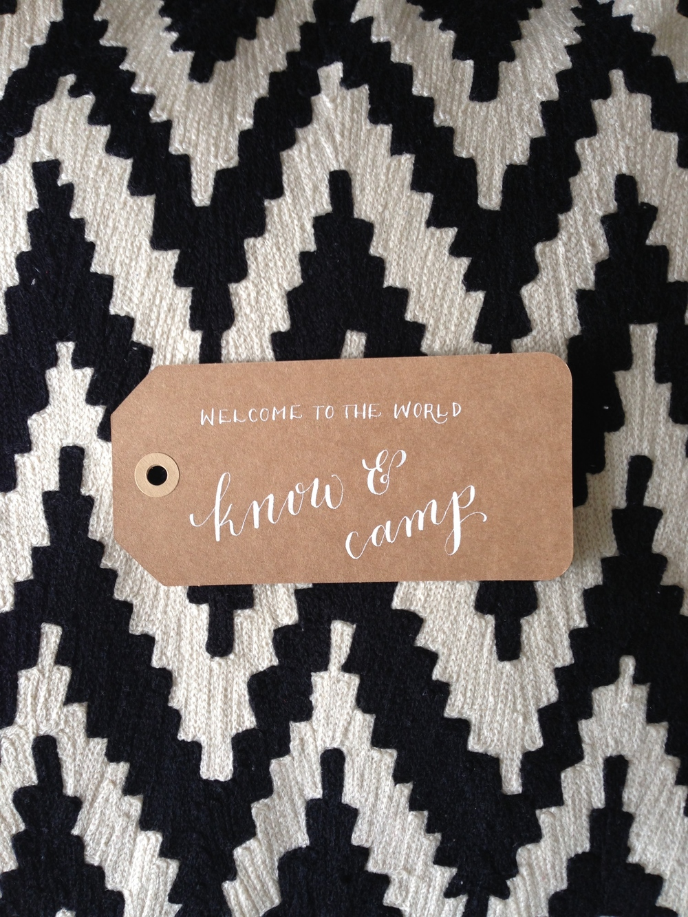 know & camp | Natalie Grace Calligraphy Co.