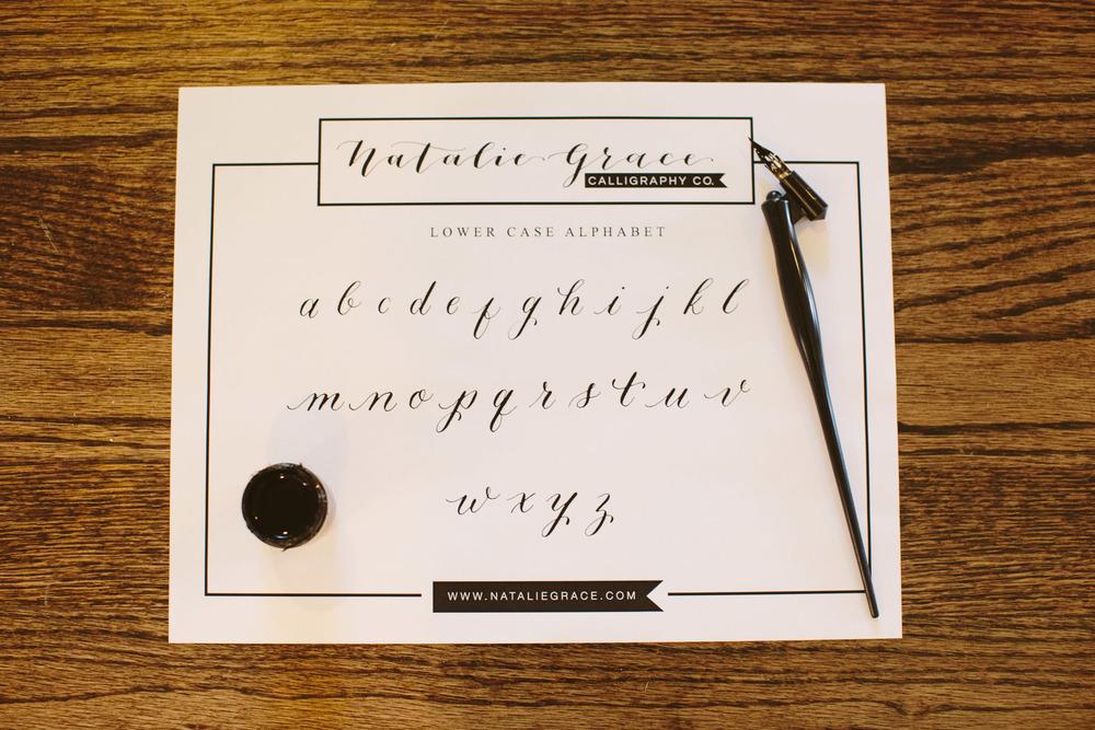 Exemplar | Natalie Grace Calligraphy Class
