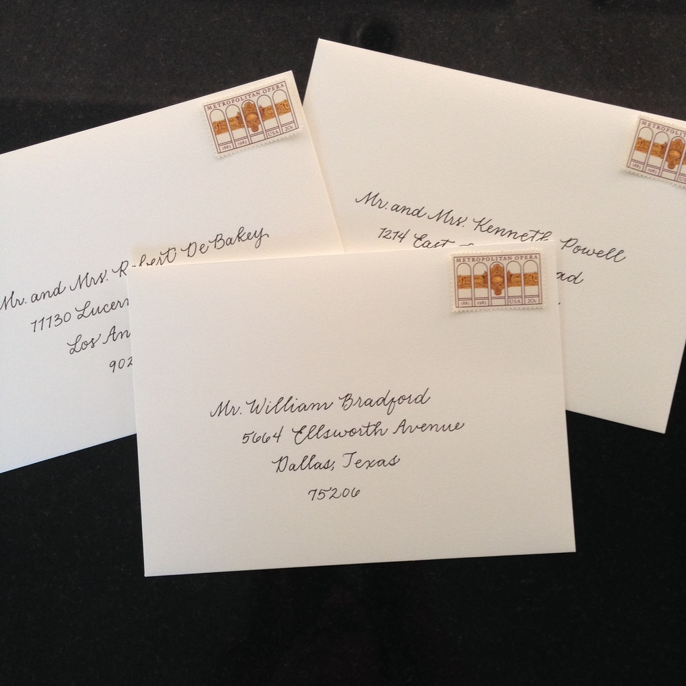 Business Hand Envelopes | Natalie Grace Calligraphy Co.