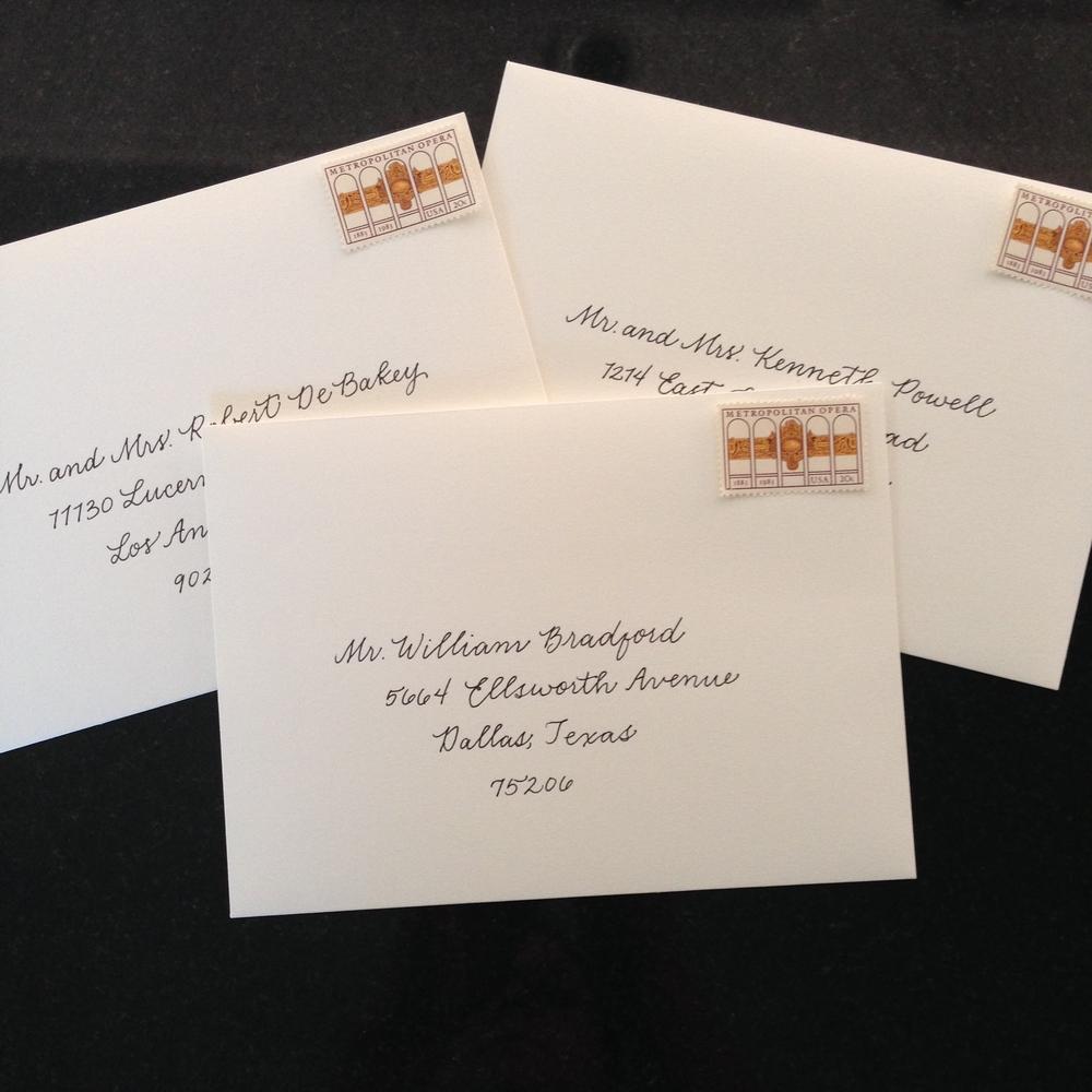 Business Hand Envelopes | Natalie Grace Calligraphy Co.