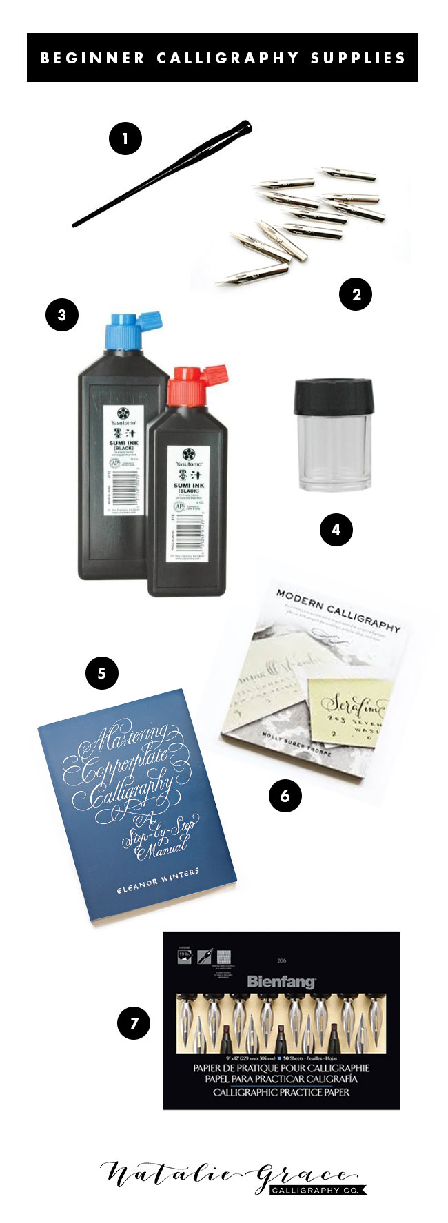 Beginner Supplies | Natalie Grace Calligraphy Co.