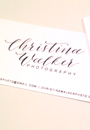 CW Business Cards | Natalie Grace Calligraphy Co.
