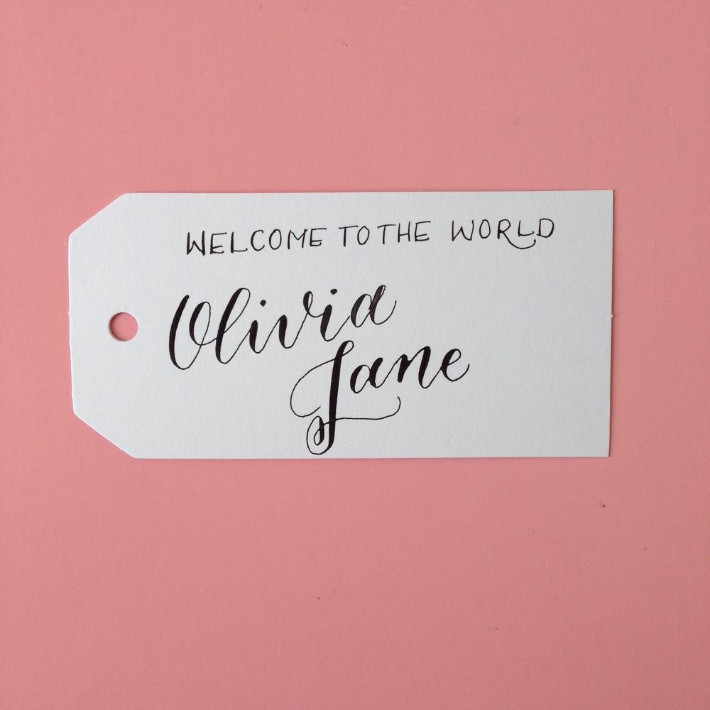 Olivia Jane Natalie Grace Calligraphy Co.
