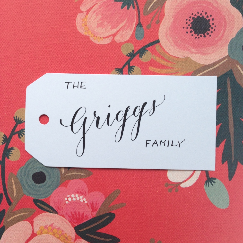 Griggs Family Natalie Grace Calligraphy Co.