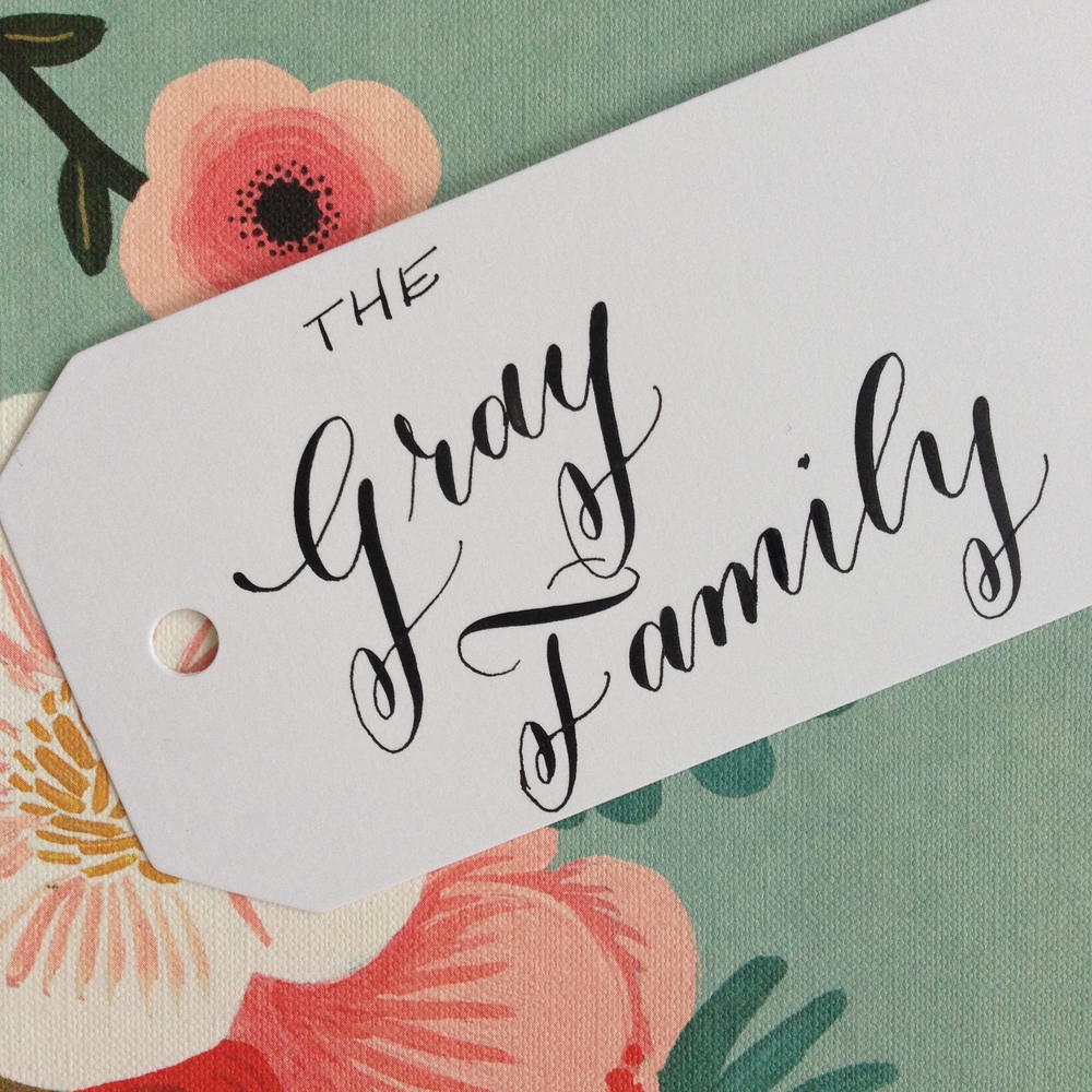 Gray Family | Natalie Grace Calligraphy Co.