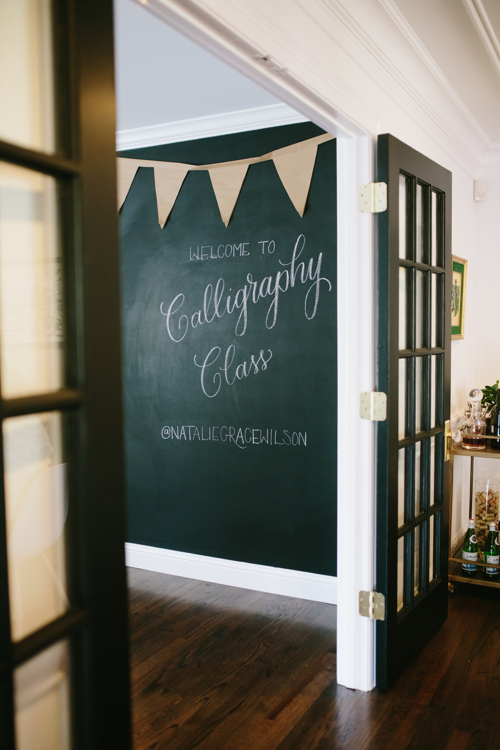 Chalk Wall | Natalie Grace Calligraphy Co.
