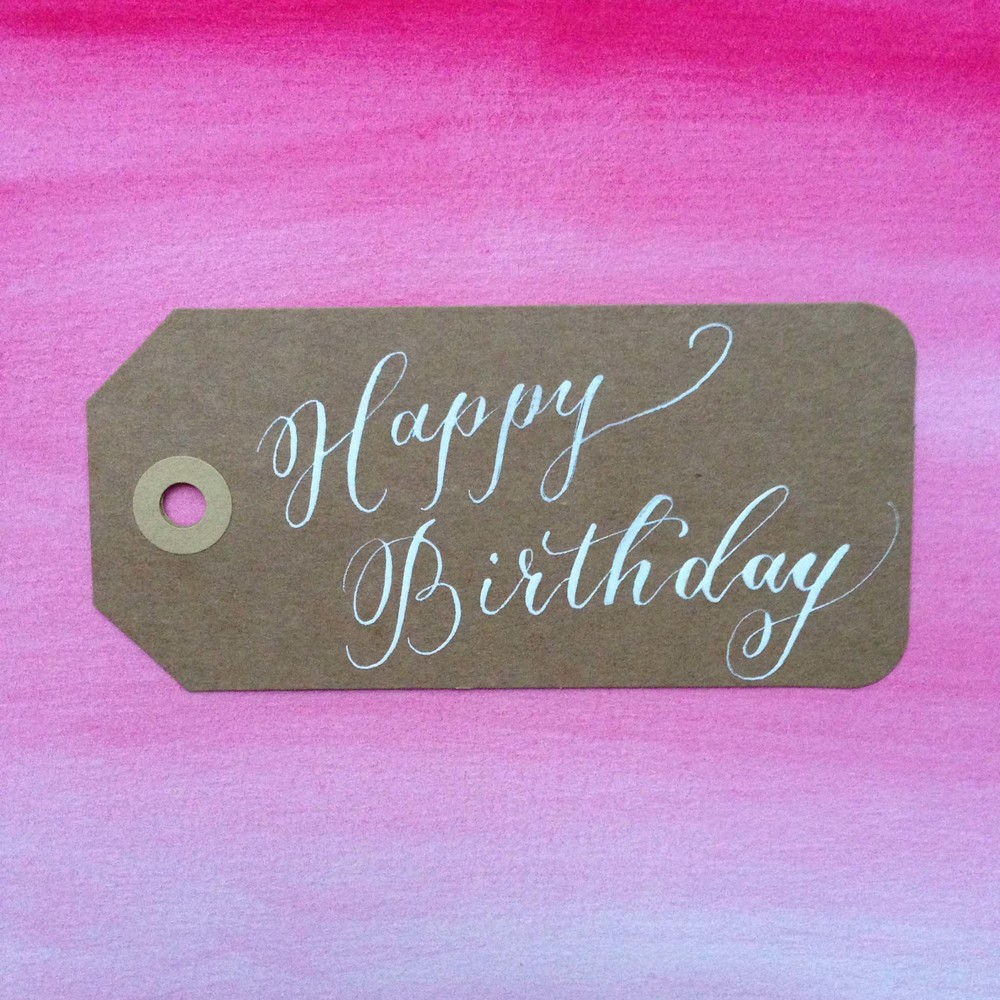 Happy Birthday | Natalie Grace Calligraphy Co.