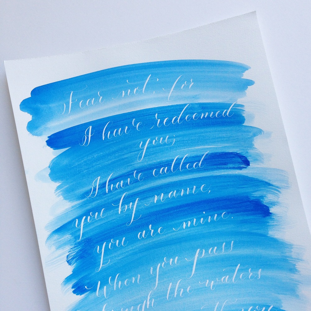 Isaiah 43 | Natalie Grace Calligraphy co.