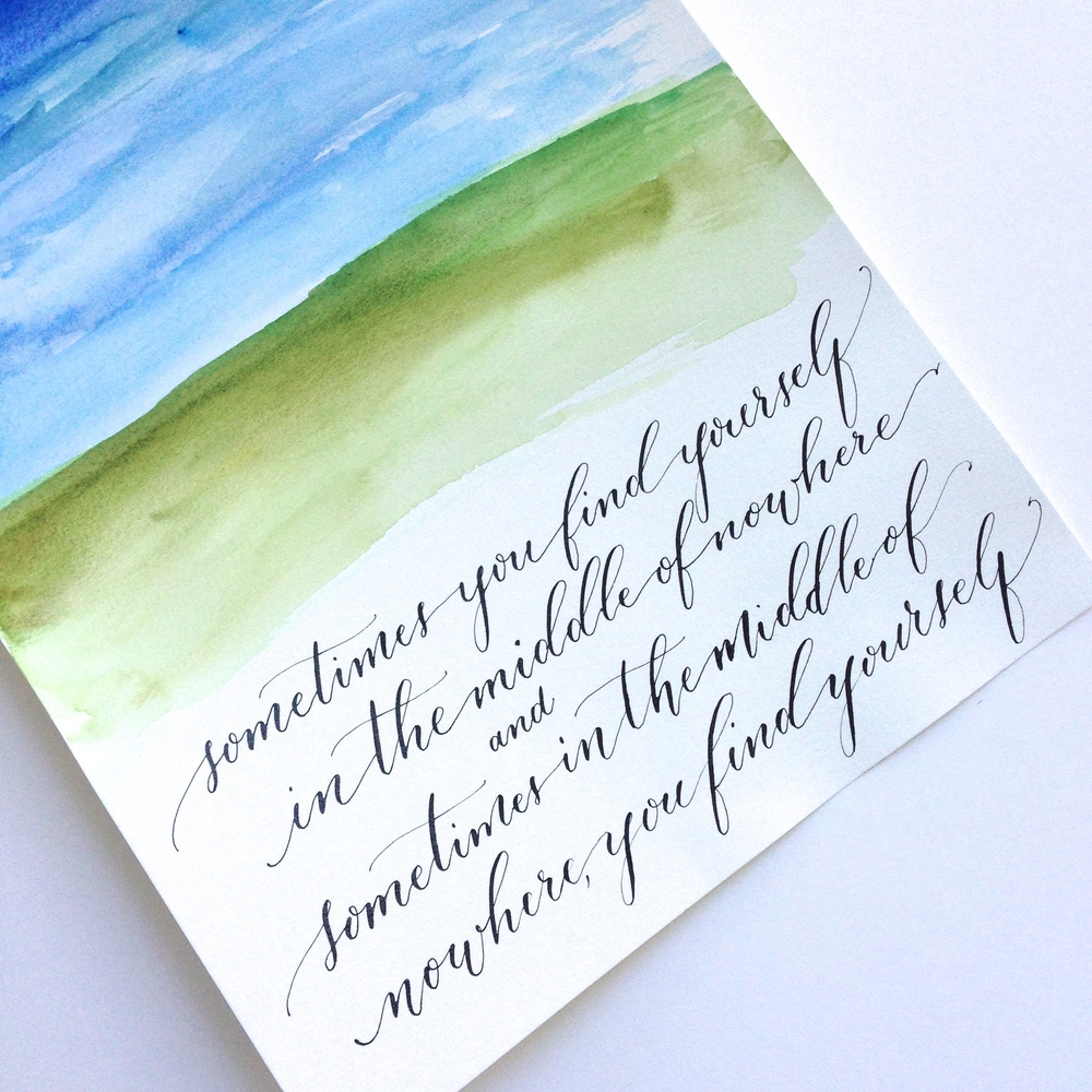 For Lori | Natalie Grace Calligraphy Co.