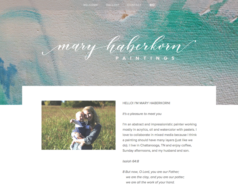 Mary Haberkorn Bio | Natalie Grace Calligraphy Co.