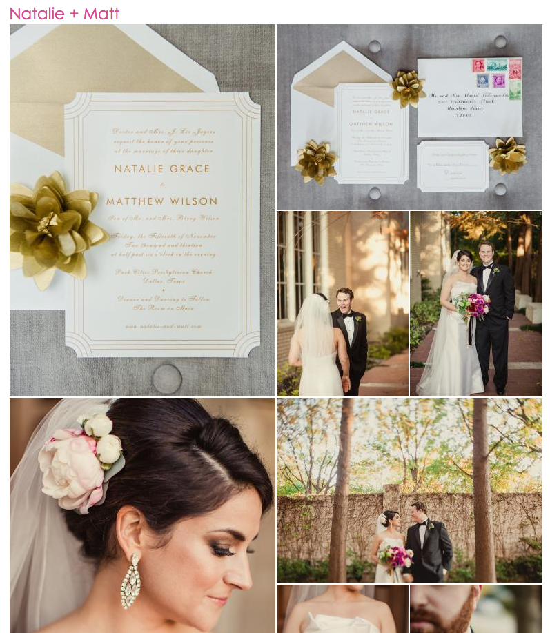 Wedding Feature | Brides of North Texas | Natalie Grace Calligraphy Co.