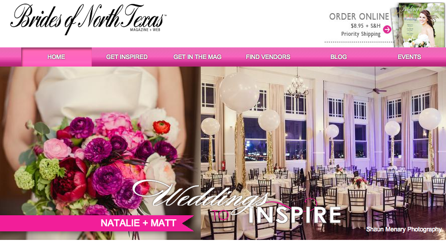 Brides of North Texas Homepage | Natalie Grace Calligraphy Co.