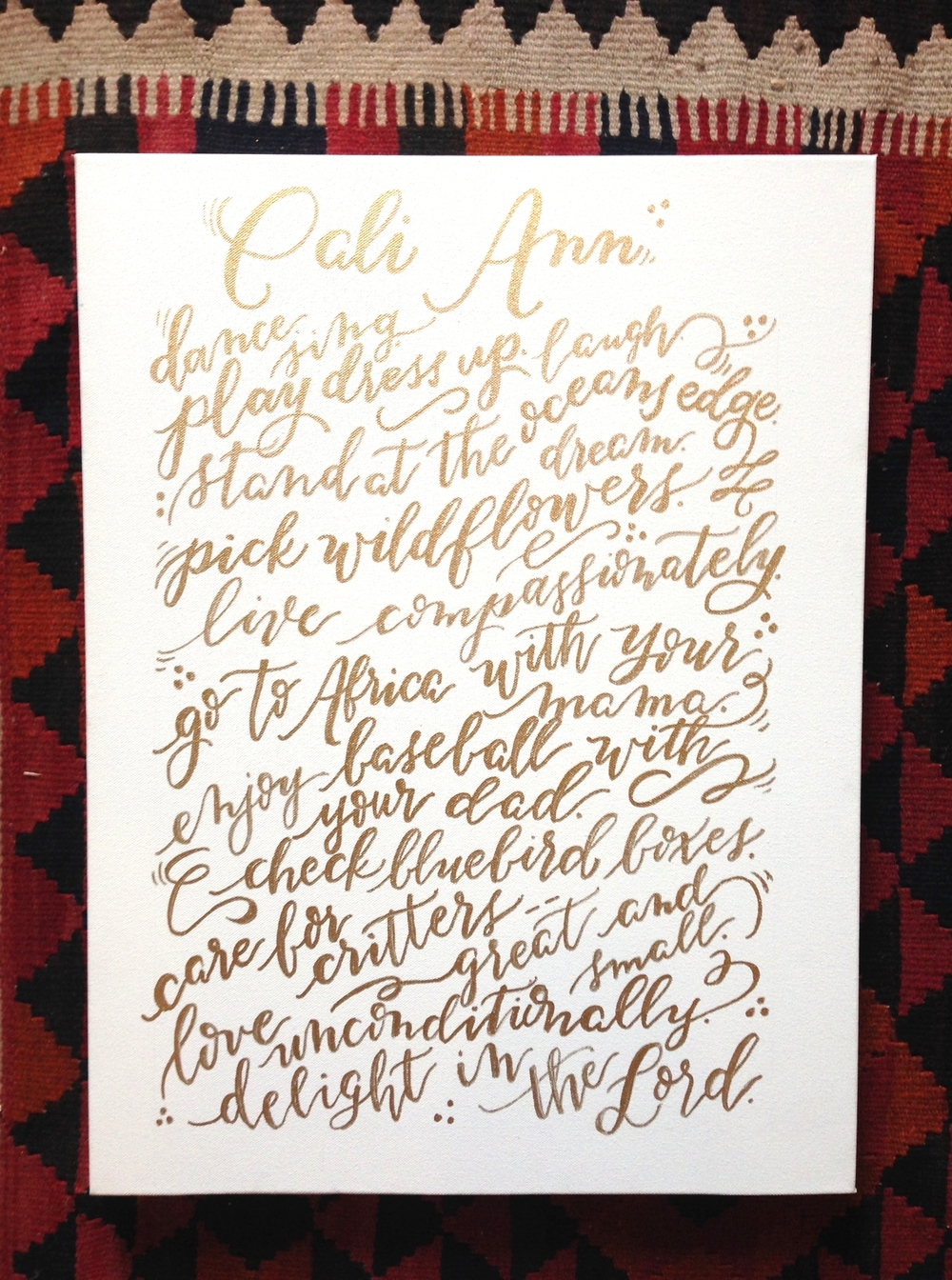 Cali Ann Canvas | Natalie Grace Calligraphy Co. Blog