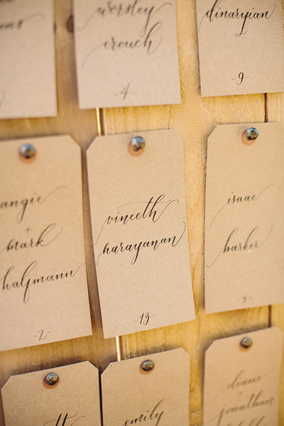 Escort Cards | Sara + Rocky Photography | Natalie Grace Calligraphy Co.