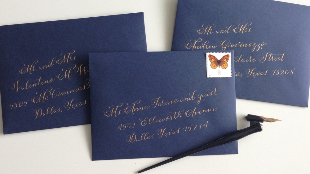 Angelina Envelopes | Natalie Grace Calligraphy Co.