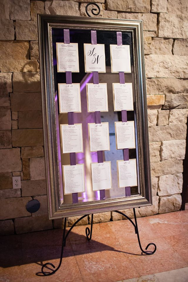 Shayna + Nick Wedding | Escort Cards