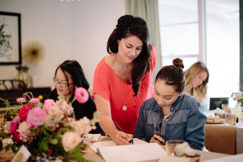 Natalie Grace Calligraphy Class | April 2016