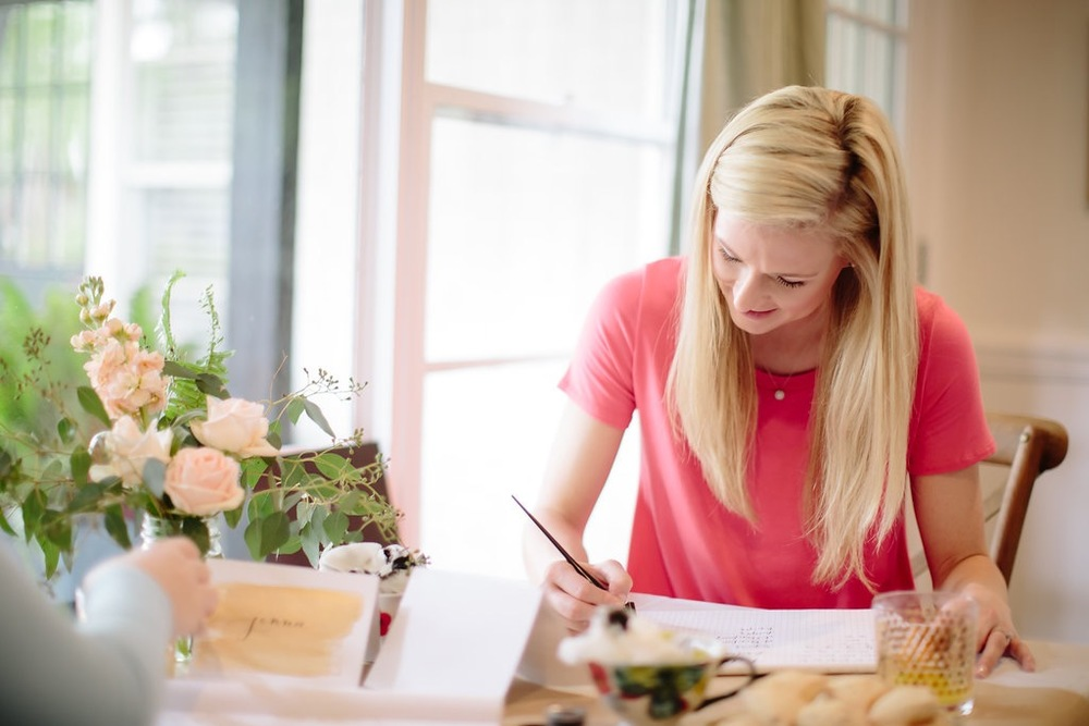 Natalie Grace Calligraphy Class | Lori Wilson Photography