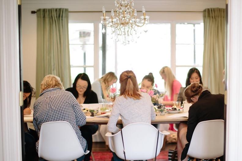 Natalie Grace Calligraphy Class | Lori Wilson Photography