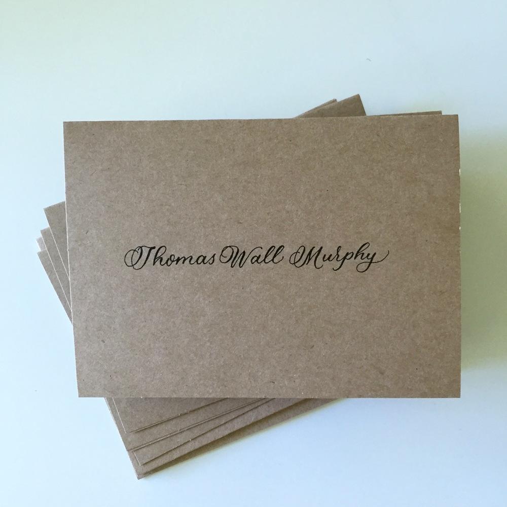 Thomas Wall Murphy | Natalie Grace Calligraphy Co.