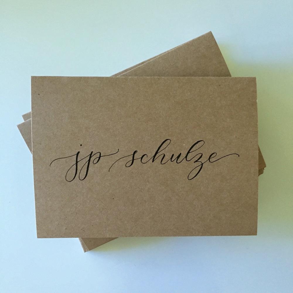 JP Schulze | Natalie Grace Calligraphy Co.