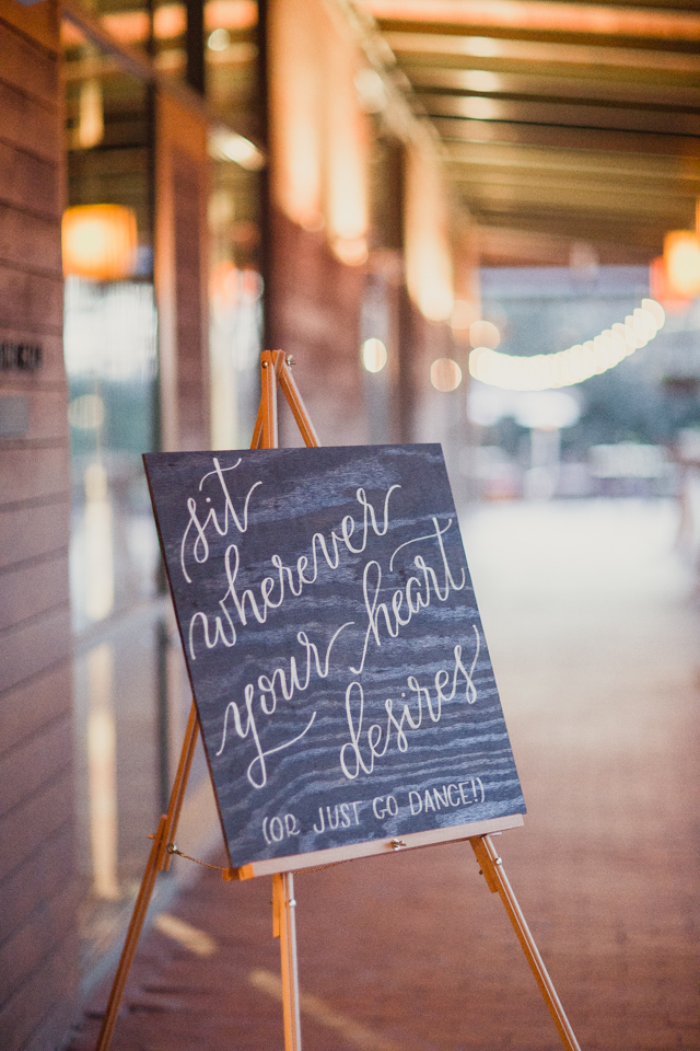 Sit wherever your heart desires | Laura + Andrew | Shaun Menary Photography | Natalie Grace Calligraphy Co.