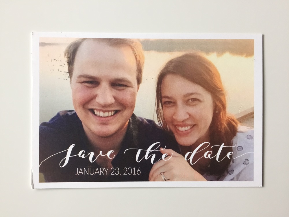 Save the Date | Laura + Andrew | Natalie Grace Calligraphy Co.