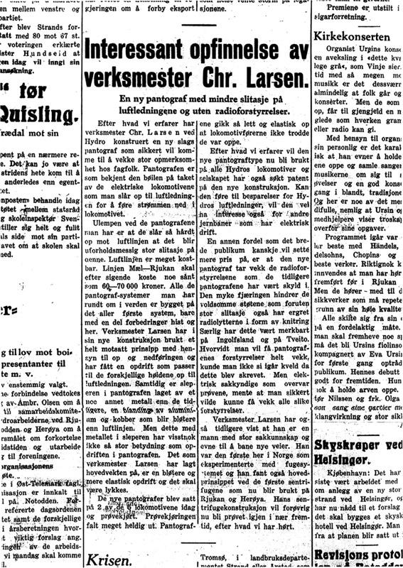 Rjukan Arbeiderblad 24. februar 1933