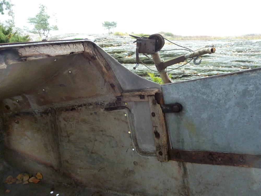 Endel veldig porøst treverk var utolig nok på plass