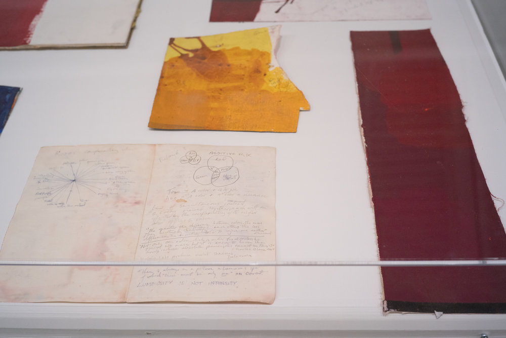 Selection of notes and pigment tests