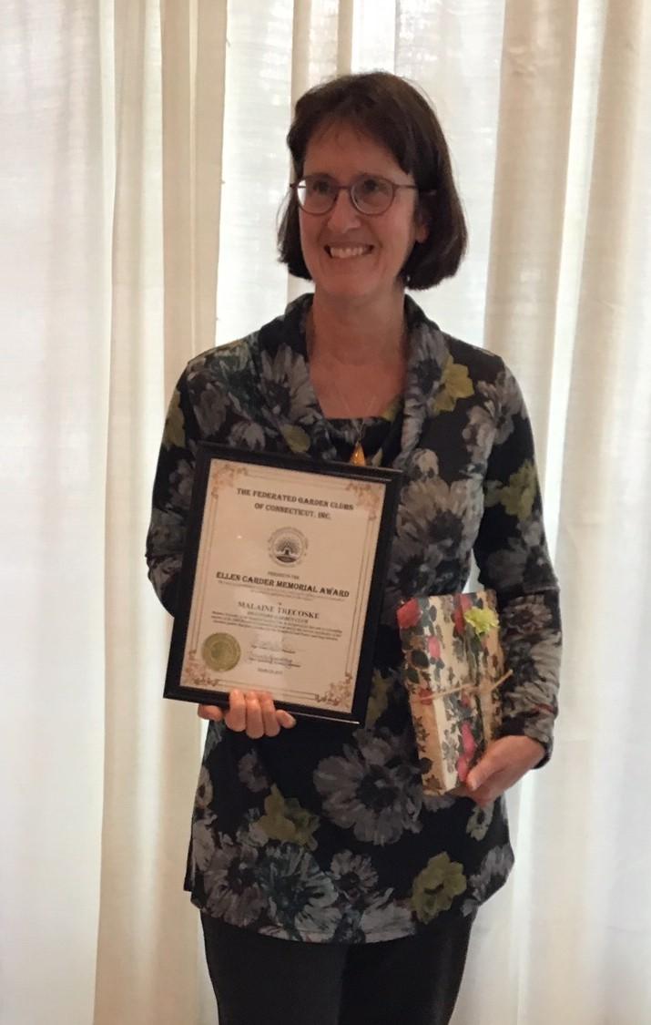 Malaine Trecoske reveived the Ellen Carder Memorial Award for Horticulture
