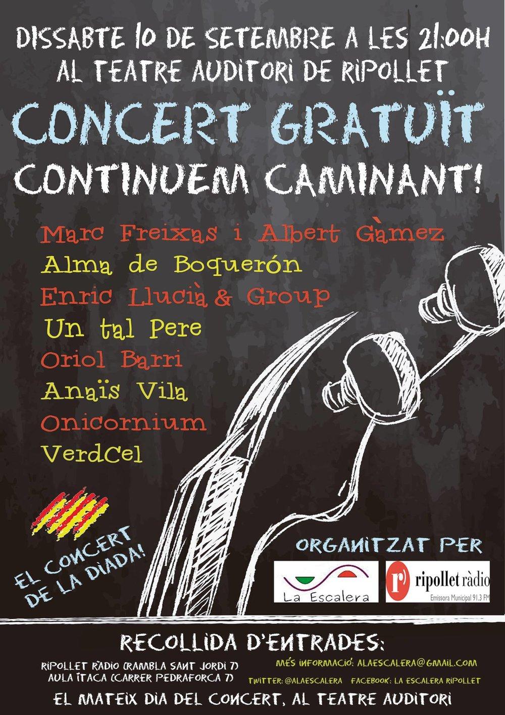 Cartel promocional del concert al Teatre Auditori de Ripollet el 10/09/2016